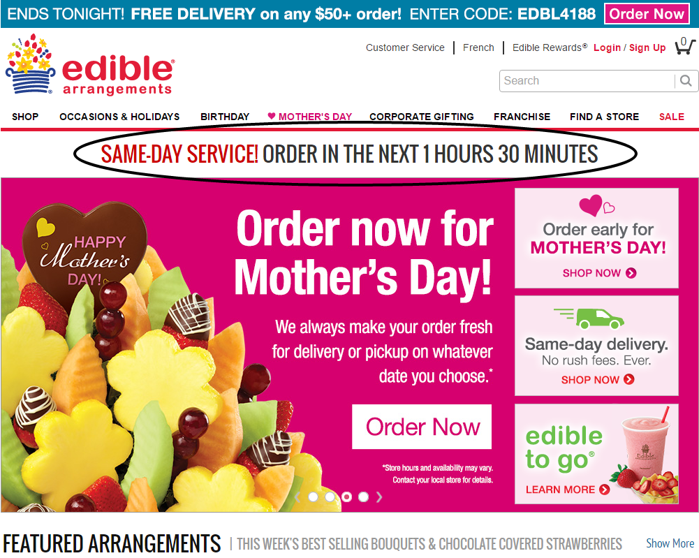 ecommerce case study Edible arrangements